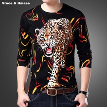 Chinese style exquisite 3D animal pattern printing fashion sweater pull homme Autumn&Winter 2017 New quality sweater men M-XXXXL