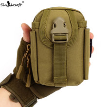 SINAIRSOFT MOLLE System accessory bag Climbing Bags D-ring Holder Drawstring Pouch Army Durable Travel Hiking Molle bag