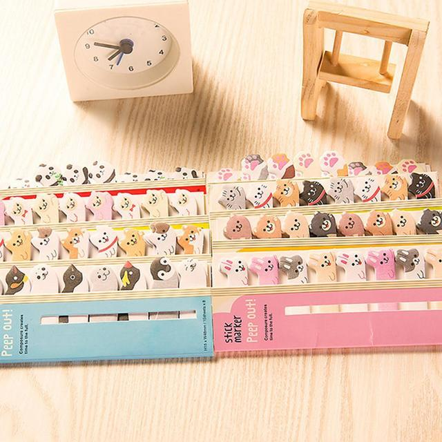 Kawaii Memo Pad Bookmarks Creative Cute Animal Sticky Notes Index Posted It Planner Stationery School Supplies Paper Stickers 5