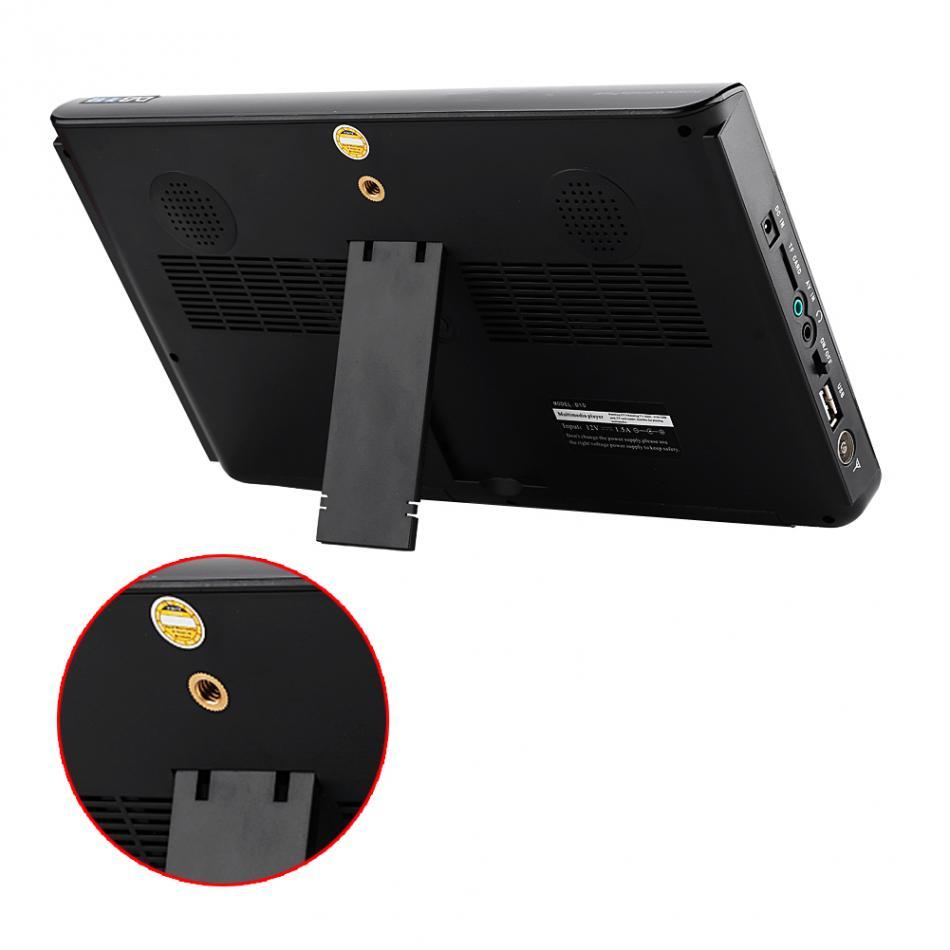 10 inch DVB-T-T2 16:9 Portable TFT-LED HD Digital Analog Color TV Television Player 20