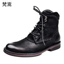 hot deal buy men's casual real leather boots cowhide autumn winter desert boots men breathable chelsea boots male chelsea boots leisure man