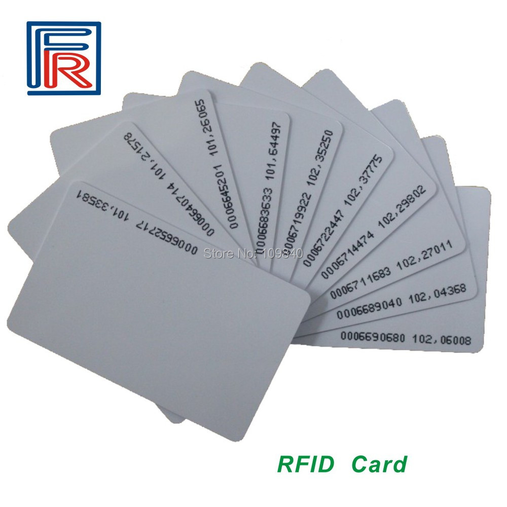2016 10pcs RFID 125KHz Card TK4100,EM4100,EM4102 Proximity PVC ID card for access control rfid contactless card proximity id card rfid iso pvc card time attendance for access control 125khz with tk4100 em4100 chip