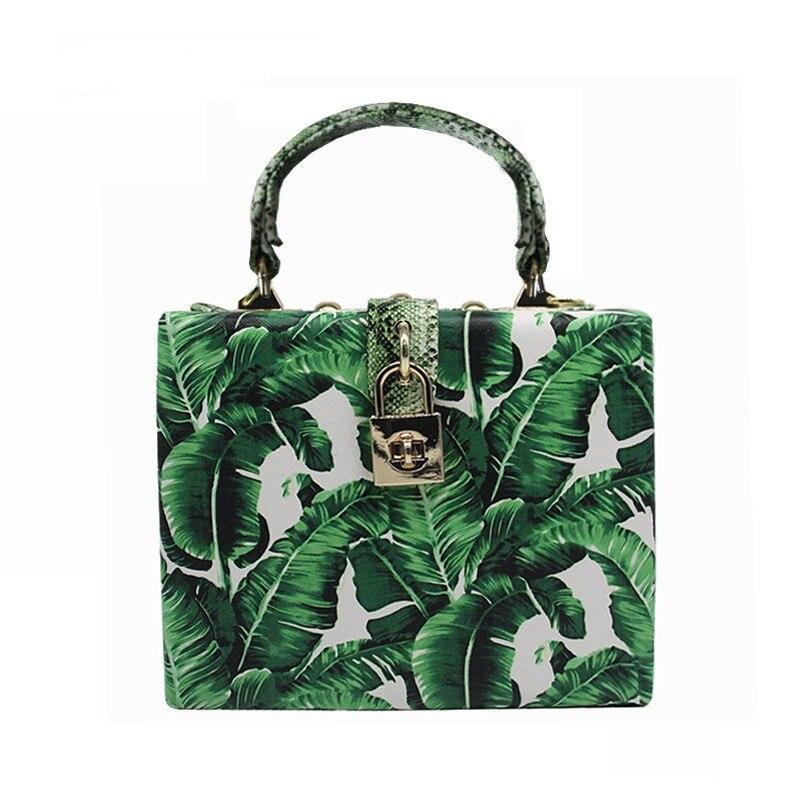 Caker Brand 2018 Women Green Colorful Handbag Fashion Leopard Printing Day Clutches Chain bags цена и фото
