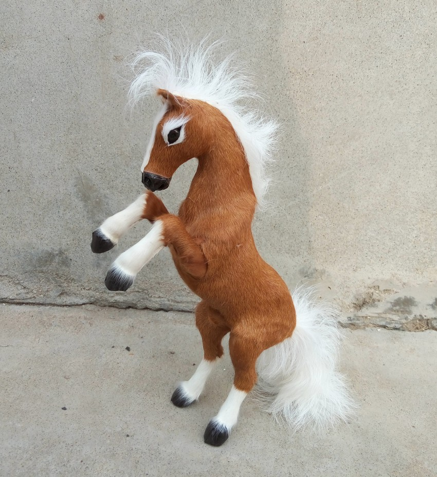 new simulation horse toy resin&fur brown horse model gift about 32cm 1099 цена и фото