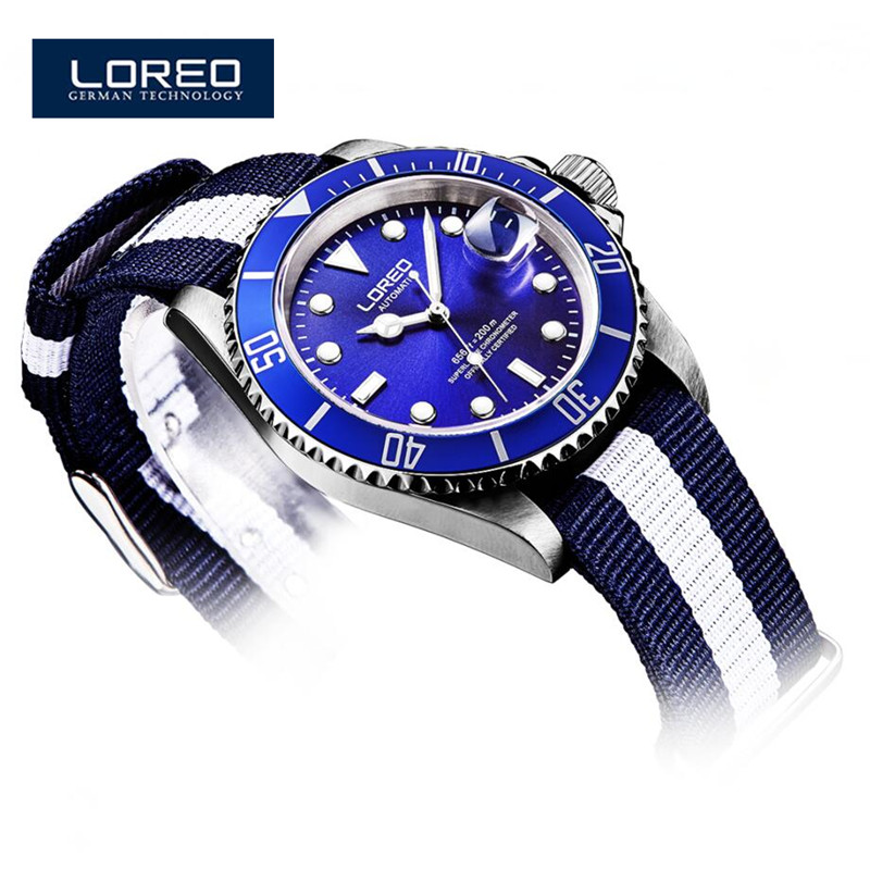 LOREO Men Watches 2016 Top Quality AAA Luxury Brand Two Tone Mechanical Automatic Men Wrist Watch Relogio Christmas Gift K15 unique smooth case pocket watch mechanical automatic watches with pendant chain necklace men women gift relogio de bolso