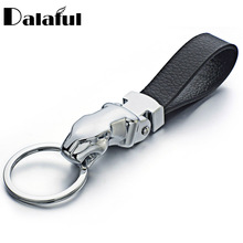 Metal Leopard Head Leather Key Chains Rings Holder For Car Keyrings KeyChains For Man Women High Quality Gift K262