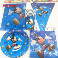 51pcs dużo Dzieci Urodziny Sprzyja Cartoon Minnie Mouse Płyty Tkanek Naczynia Dekoracje Baby Shower Party Cups serwetki Dostaw