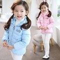 Jaqueta casaco de inverno para baixo casaco menina da menina do bebê crianças crianças roupas da moda casaco vermelho da Coréia Do Sul 4 ~ 14 anos de aniversário