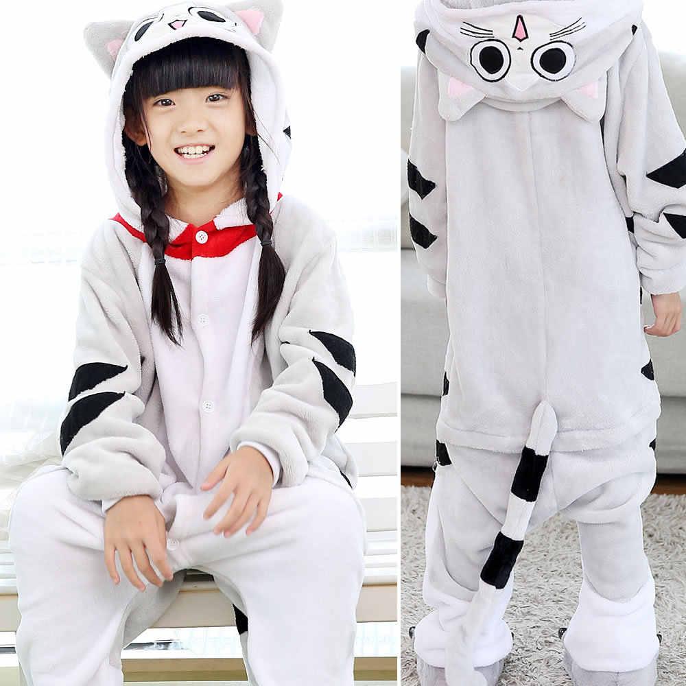 Çocuklar Kigurumi Iskelet & Sullivan hayvanlı pijama pijama Tulum Unisex Erkek Kız bez bebek tulum Pazen Onesies kostüm