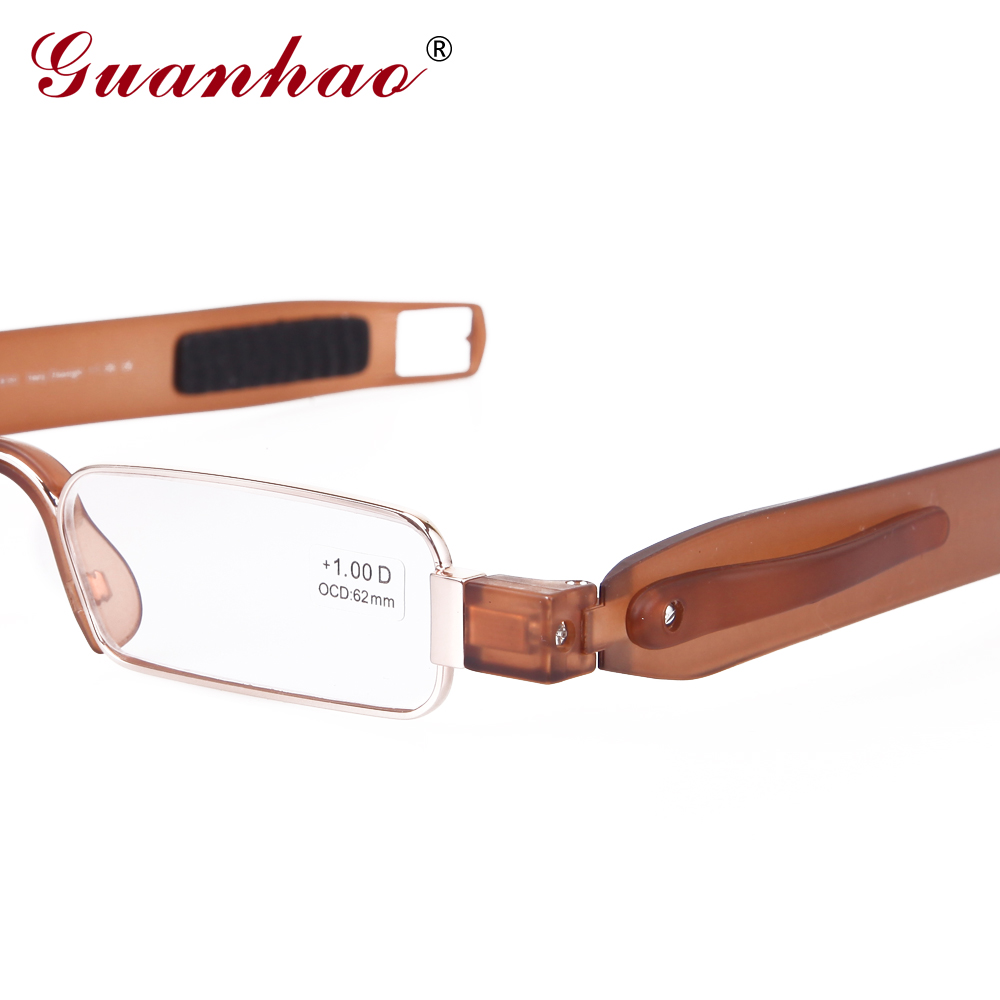 Guanhao Brand Retro Portable Reading Glasses Rotating TR90 Resin - Apparel Accessories - Photo 4
