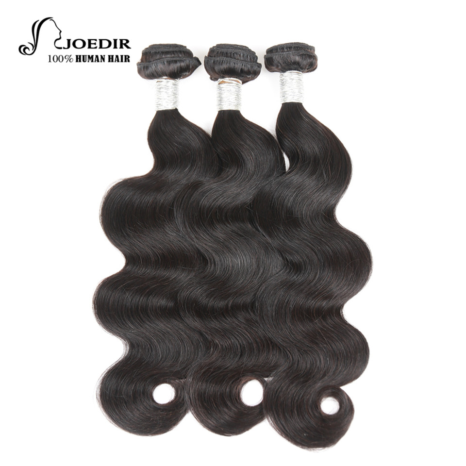 Joedir Hair Pre-Colored Body Wave Peruvian Hair Weave Extensions 3 Pcs Non Remy Body Wave Human Hair Extensions Free Shipping