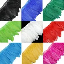 Trims Fringes Multi-Color Geese Dyed 2-Meters/Lot Ribbons/15-20cm High-Quality
