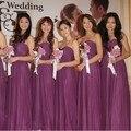 Элегантный милая лонг баклажан платья невесты / баклажаны свадебные ну вечеринку Dresses / vestido де феста де casamento