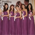 Elegant Sweetheart Long Eggplant Bridesmaid Dresses/Eggplant Wedding Party Dresses/vestido de festa de casamento