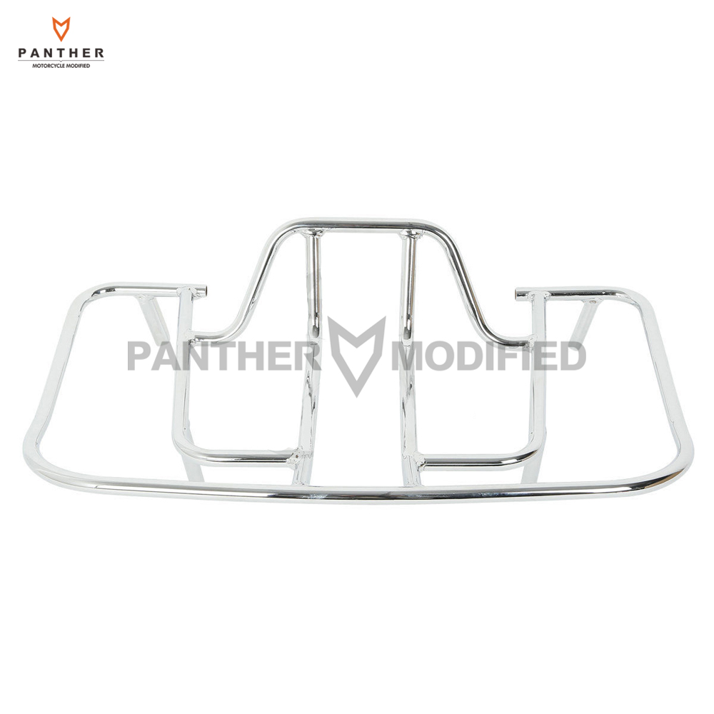 Chrome Motorcycle Trunk Luggage Rack Case for Honda Goldwing GL1800 GL 1800 2001-2013 new chrome motorcycle rear passenger armrests for honda goldwing gl1800 2001 2017 16 15 14 13 12 11 10 09 08 07 06 05 04 03 02