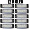 10 шт. белый 6LED автобус автофургон трейлер 6 из светодиодов боковые габаритные показатели лампы 12 В 24 В