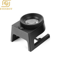 Hotsale Standing 3 LED Magnifier 20X Light Illuminated Printers Loupe Metal Thread Counter Linen Tester Cloth