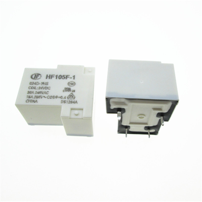 2PCS 4pins 24V JQX-105F-1-024D-1HS HF105F-1-024D-1HS 30A 240VAC Relay