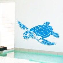 цена на Art Design home decoration cheap Vinyl sea turtle Wall Sticker removable house decor animal tortoise decals for kids or nursery