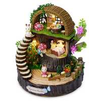 Children Mini DIY Flashing Fantastic Forest baby toys 3D Puzzle Building Toys Handcraft House Kit with Furniture Kid Gift