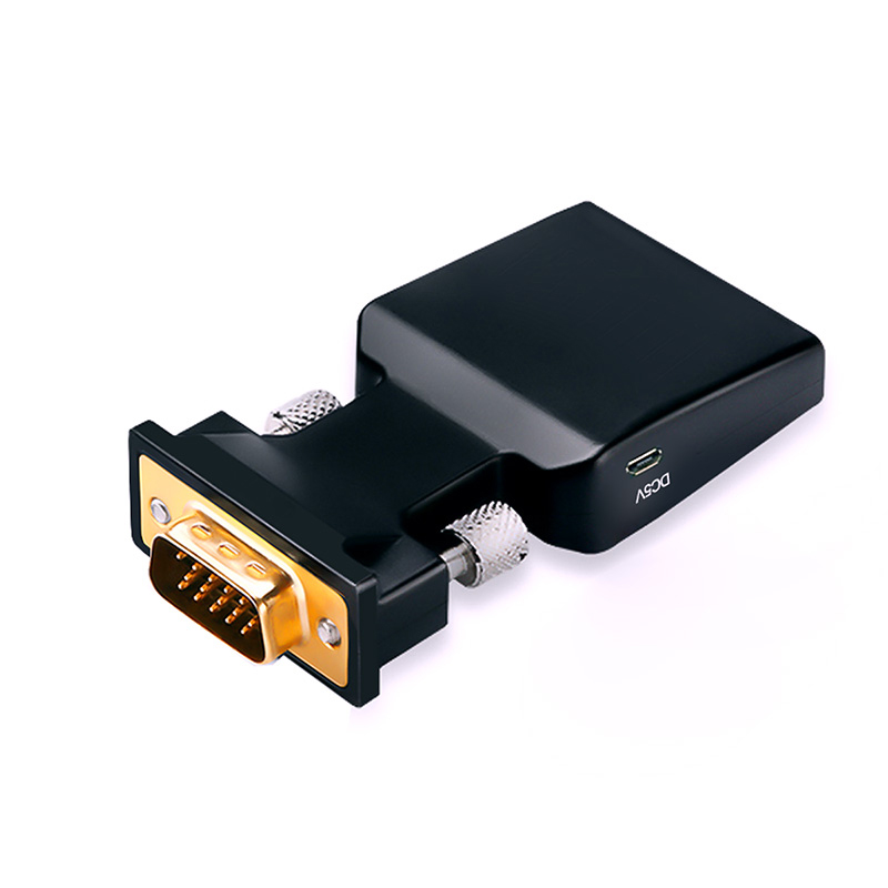 VGA to HDMI Converter hdmi vga adapter with Video Output 1080P HD 3.5mm AUX Audio Port for PC Laptop HDMI to VGA