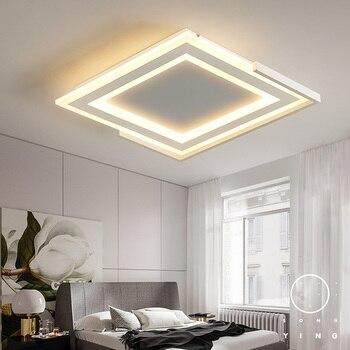 LukLoy proste nowoczesne nieregularne kwadratowe lampka do sypialni lampa sufitowa LED osobowość twórcza ciepły sypialnia romantyczne oświetlenie sufitowe