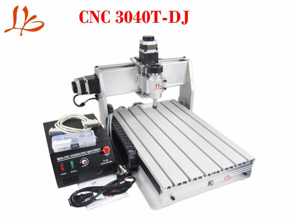 230W MINI CNC 3040 Router Machine LY 3040T-DJ 3Axis Trapezoid Screw cnc 5axis a aixs rotary axis t chuck type for cnc router cnc milling machine best quality