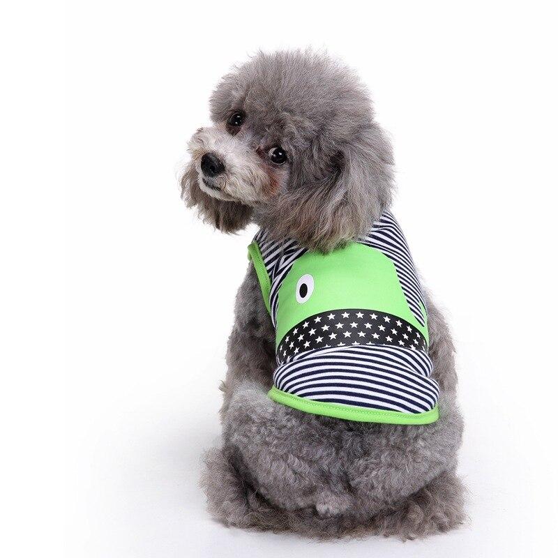 Jaro a léto delfín moře zvíře svlékl pes vesta XS-XXL velikost Pet pes oblečení dva nohy modré zelené barvy oblečení zvířat  t