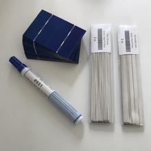 ALLMEJORES 50pcs mini Solar cell 78mm*52mm +Solar cells soldering kits for diy photovoltaic 12V 24V solar panel power charger