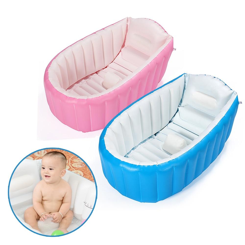 Travel Infant Washing Tub Heat Sensor New Tiny Tots Inflatable Baby Bath Tub