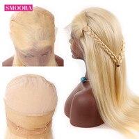 Smoora волос #613 русый полный шнурок человеческих волос парик с ребенком волос предварительно сорвал Малайзии человеческих волос парики с регу