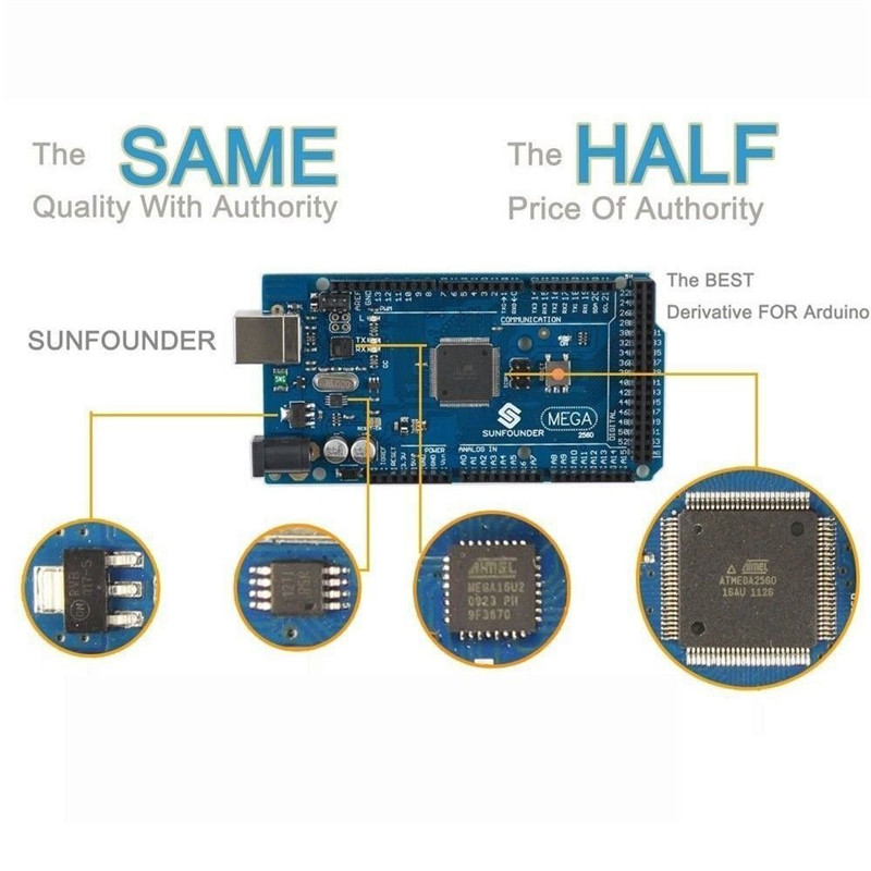 US $36 99  SunFounder Universal Starter Kit for Arduino With MEAG 2560  Board Including 36 Page Instructions Book-in Integrated Circuits from