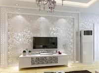 Oro/Argento/Beige 3 Moderno 3d wallpaper rotolo murale carta da parati papel de parede floreale Papel Decorativo per Soggiorno 5.3x10 M