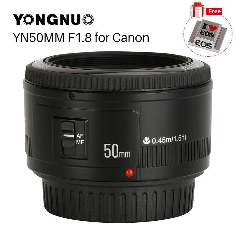 YONGNUO YN50mm YN50 F1.8 EF EOS 50 MM AF MF Camera Lens Pour Canon Rebel T6 EOS 700D 750D 800D 5D Mark II IV 10D 1300D