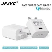 Порты USB телефон стены Зарядное устройство адаптер Fast Charge стены Зарядное устройство Великобритания Plug Адаптеры питания для iPhone 8 Samsung S8 Планшеты