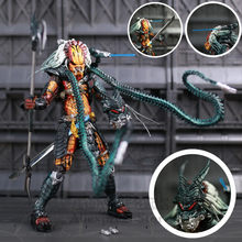 "NECA Predator Clan Leider 8.5 ""Action Figure Ultimate Alien Hunter Buigbare Tentakels AVP Klassieke Kenner Oudsten Collectible(China)"