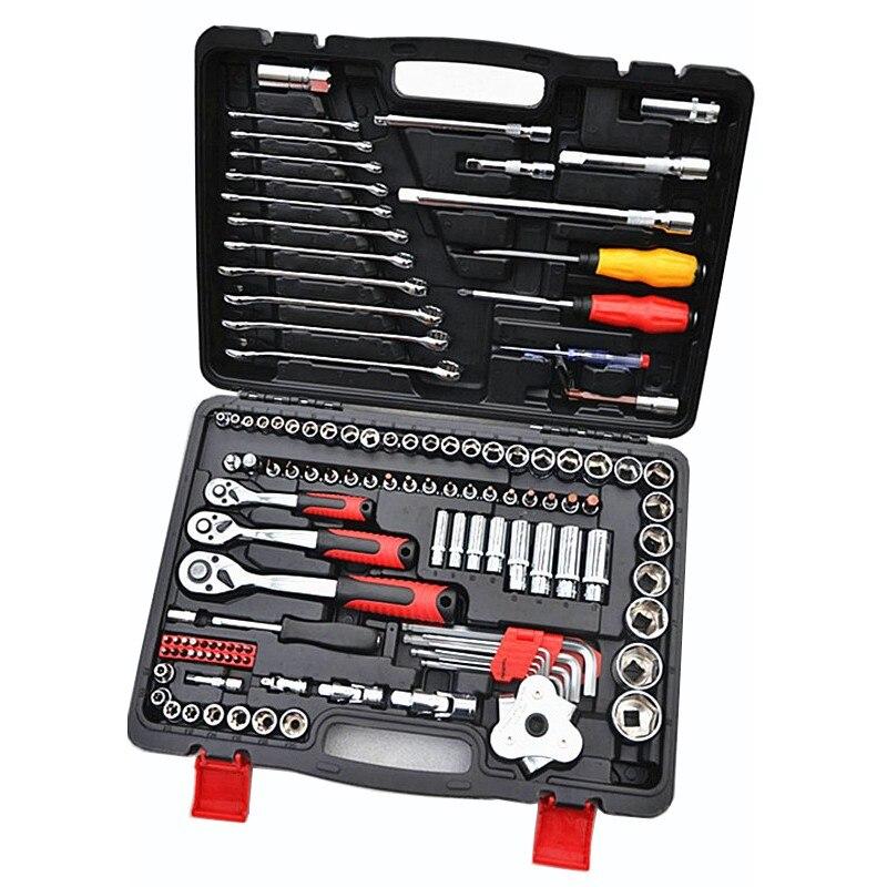 Набор инструментов для ремонта 121 шт./компл., набор инструментов для ремонта автомобилей, хром ванадиевая сталь, 72 зубца, гаечный ключ, торцев