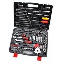 121 pc/set auto repair tools set chrome vanadium steel 72 teeth Ratchet wrench Socket drill screwdriver car hardware repair box