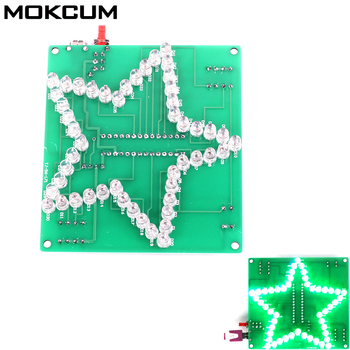 DIY Light Module Colorful Glittering Five-Pointed Star Water Light LED Home Furnishing decoration DIY Colorful Glittering Star фото