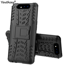 For Samsung Galaxy A80 Case Heavy Duty Hard Rubber Silicone Phone Cover for case
