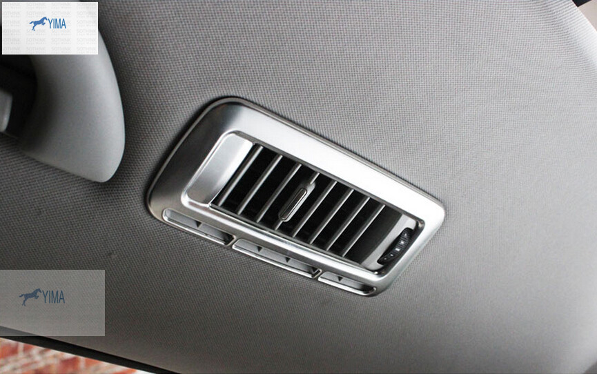 Accessories For VW Volkswagen Sharan 2012 - 2016 Stainless Steel Roof Air Conditioning Vent Outlet Cover Interior Trim stainless steel car interior dashboard side air conditioning outlet vents decorative cover trim strip for audi a3 8v 2013 16