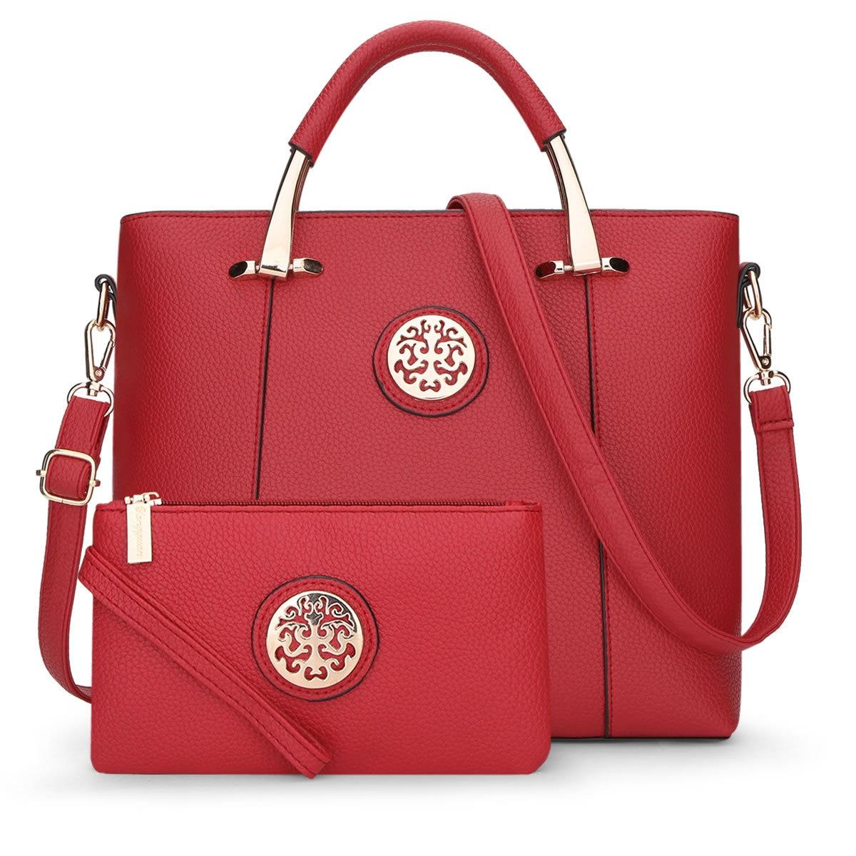 f4a130c775d8 2017 Luxury Women Leather Handbags Set Designer Handbag High Quality Big  Shoulder Bag Famous Brand Tote Ladies Hand Bags