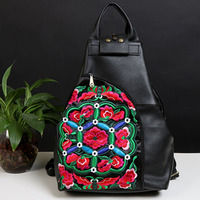 XIYUAN BRAND Factory Direct Sales Girl New National Wind Embroidery Bag Embroidered Fashion 100 Genuine Leather