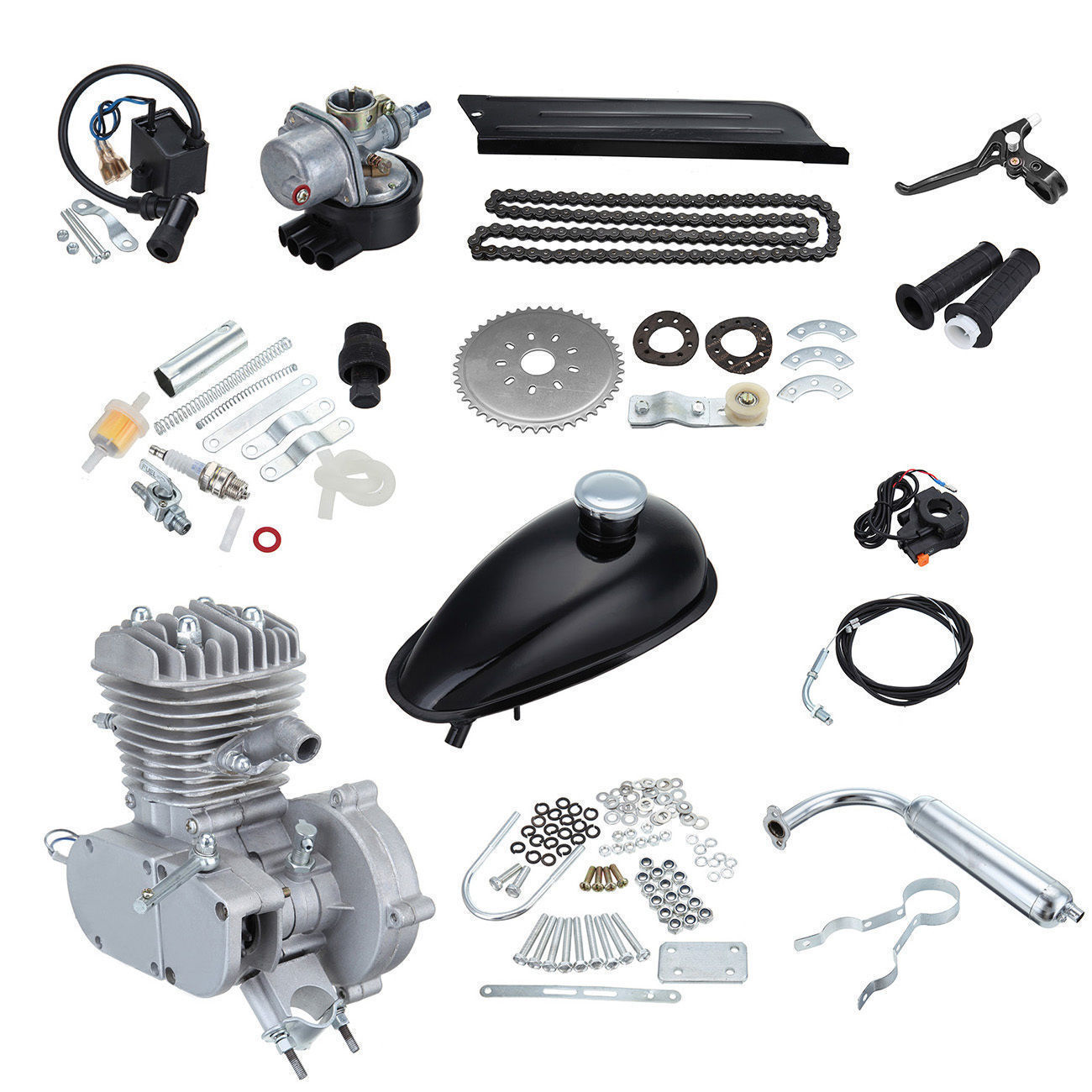 Motorcycle Engine Kits : Cc stroke engine complete kits for gas motorized cycle