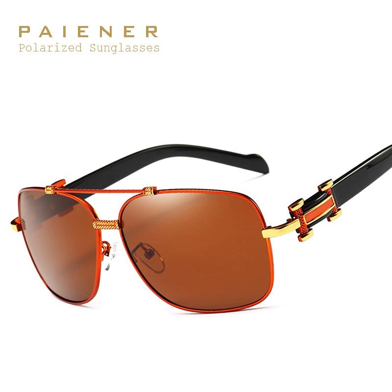e0625819a2 De aluminio de magnesio marca diseñador hombres polarizado Gafas de sol  masculino Sol Gafas UV gafas