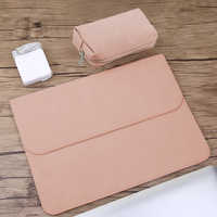 Matte PU Leather Sleeve Waterproof Laptop Bag 14 15.6 For Macbook Xiaomi Air 13 Case 11 12 New 2018 pro 15 Cover Women Men Bags