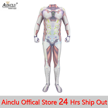 Ainclu Game Saints' All Hallows' Day Overwatch Genji Cosplay Costumes 3D Printed
