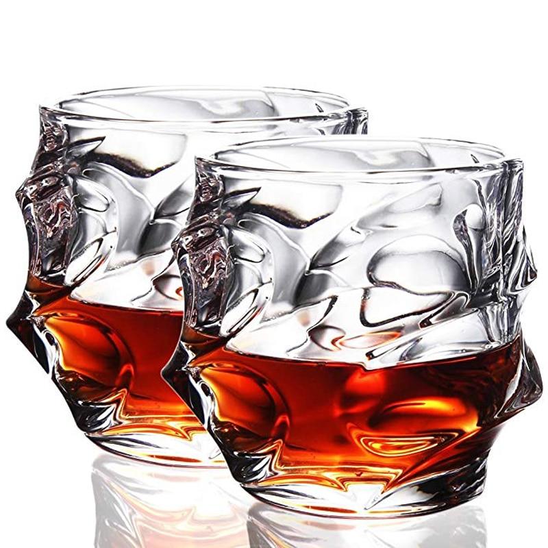 UPORS 350ML Whiskey Glass Unique Elegant Scotch Glasses Liquor Tumbler Crystal Whisky Glass for Home Party Wedding Glasses Gift mt everest whiskey glasses