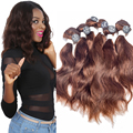 "EVET Indian Virgin Hair Weave Indian Wave 7A Grade Unprocessed Virgin Hair 6pcs/set 2x10""2x12""2x14"" 200g Human Hair Weaving"