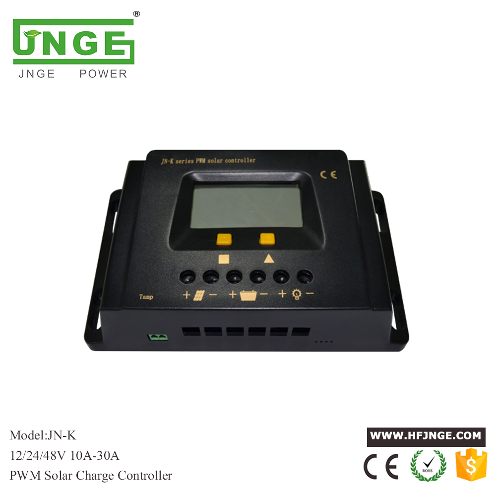 JNGE 20A PWM Solar Charge Controller 12V 24V Solar Panel LED Light Regulator PV Battery Charge Regulator LCD Timer Light control 20a solar controller 12v24v light control time automatically identify street charge
